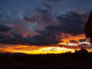 Sunset in Eldorado at Santa Fe by Jeffe Kennedy