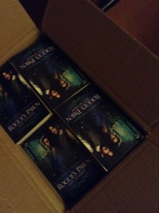 Box of Rogue's Pawn print copies