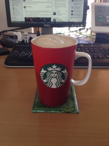 Red 2015 Starbucks cup